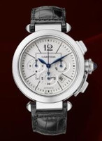Cartier Pasha Extra Large Chronograph (SS/Silver/