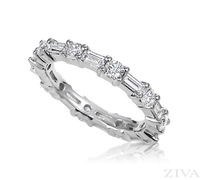 Ziva Baguette & Round Diamond Eternity Ring