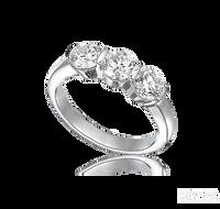 Ziva Three-Stone Diamond Anniversary Ring