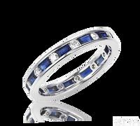 Ziva Vintage Sapphire & Diamond Eternity Ring