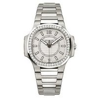 Patek Philippe Ladies Automatic Nautilus ( SS- Diamonds/Rhodium Gray/ SS Bracelet)