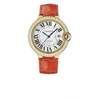 Cartier Ballon Bleu Large (YG Diamonds/Silver/ Leather)