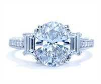 3.80 Cttw Oval Diamond Engagement Ring