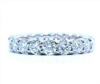 3.02 cttw Diamond Ring In 18k White Gold