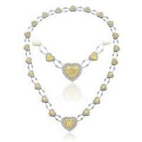 14.16 Ct Fancy Yellow Diamond Necklace