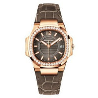 Patek Philippe Nautilus Ladies (7010R /Brown /RG)