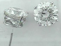 8.08 Ct Diamond Stud Earrings