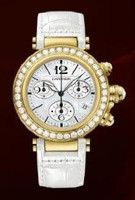 Cartier Pasha Seatimer Medium (YG Diamonds/MOP /