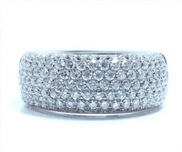 8.5 mm Diamond Ring In 18k White Gold
