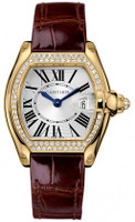 Cartier Roadster Ladies ( Diamonds/Silver/Croc