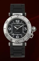 Cartier Pasha Seatimer (SS/Black/Rubber)