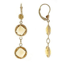 Herco 14k Yellow Gold Citrine Earrings
