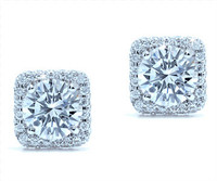 1.14 cttw Round Diamond Earrings In 18k White Gold