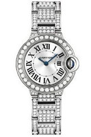 Cartier Ballon Bleu Small (WG-Diamonds/ Silver/WG-