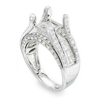 Pave Diamond Engagement Ring Setting