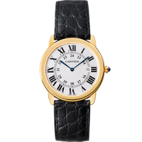 Cartier Ronde Solo Large (SS/Silver/Leather)