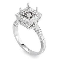 Princess Cut Diamond Engagement Ring Setting 1106