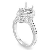 Pear Cut Diamond Engagement Ring Setting 1105
