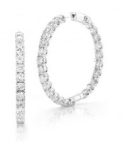 10.00 Ct Diamond Hoops Inside Out