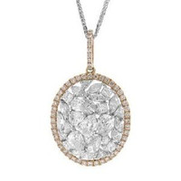 4.03ct 14k2t R/g Diamond Pendant