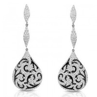 2.81ct Diamond Evening Dangle Earrings