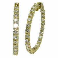 7.47 cttw Diamond Inside-Out Hoop Earrings