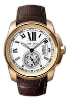 Cartier Calibre De Cartier (RG/ Silver/ Leather)