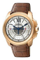 Cartier Calibre Central Chronograph (RG/Silver/ Leather)