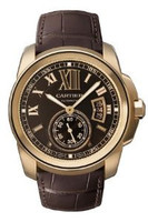 Cartier Calibre De Cartier (RG/ Chocolate/ Leather)