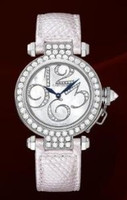 Cartier Pasha Small (WG Diamonds/Silver-Diamonds /Leather)