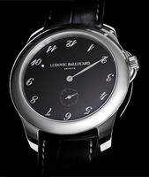 Ludovic Ballouard Upside Down Platinum Black Dial Watch MLB UPD PBD