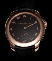 Ludovic Ballouard Upside Down 18k RG Black Dial Watch MLB UPD RGBD