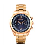 Orefici Vintage Quartz Chronograph RG Tone Dark Blue Dial Watch