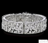 Ziva Floral Pattern Antique Bracelet