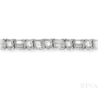 Ziva Baguette & Round Diamond Bracelet