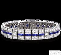 Ziva Art Deco Sapphire Bracelet