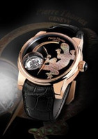 Pierre Thomas Geneve Tourbillon Historical Mechanical Movement Salamander Chiselled Dial Watch PTTB-11