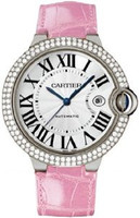 Cartier Ballon Bleu Large (WG Diamonds/Silver/ Leather)