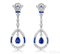 Ziva Antique Sapphire Earrings