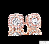 Ziva RG Diamond Studs with Square Halo