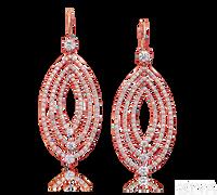 Ziva Drop Earrings in Rose Gold