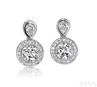 Ziva Antique Diamond Earrings