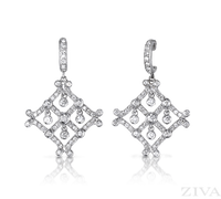 Ziva Art Deco Diamond Earrings