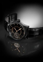 Pierre Thomas Geneve Grande Seconde Historical Mechanical Movement Black Dial Watch PTGS9-20
