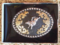 Nocona Bull Rider Western Belt Buckle