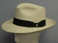 Stetson Centerdent Panama Straw Fedora Hat