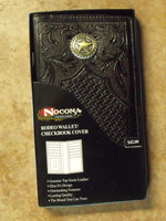 Nocona Lone Star Tooled Leather Rodeo Wallet