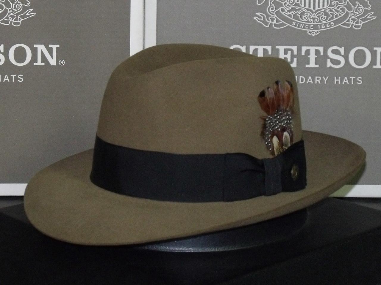 fac2193fc3e4a Stetson Temple Fur Felt Indiana Jones Fedora Hat - One 2 mini Ranch