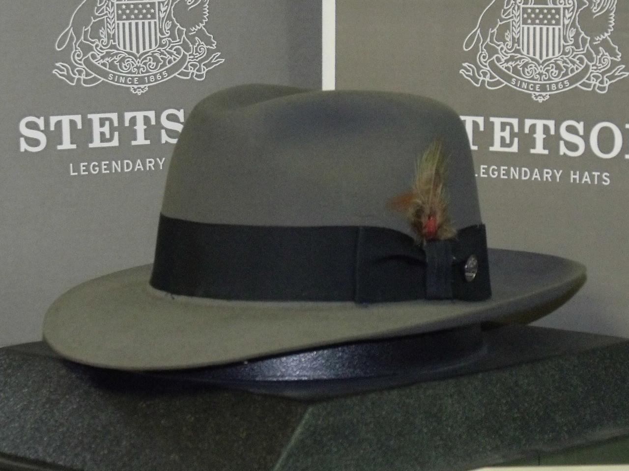 58d2f6d41 Stetson Pinnacle 100% Beaver Fur Fedora Hat - One 2 mini Ranch