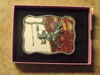 Nocona Pink Mossy Oak/Buck Belt Buckle